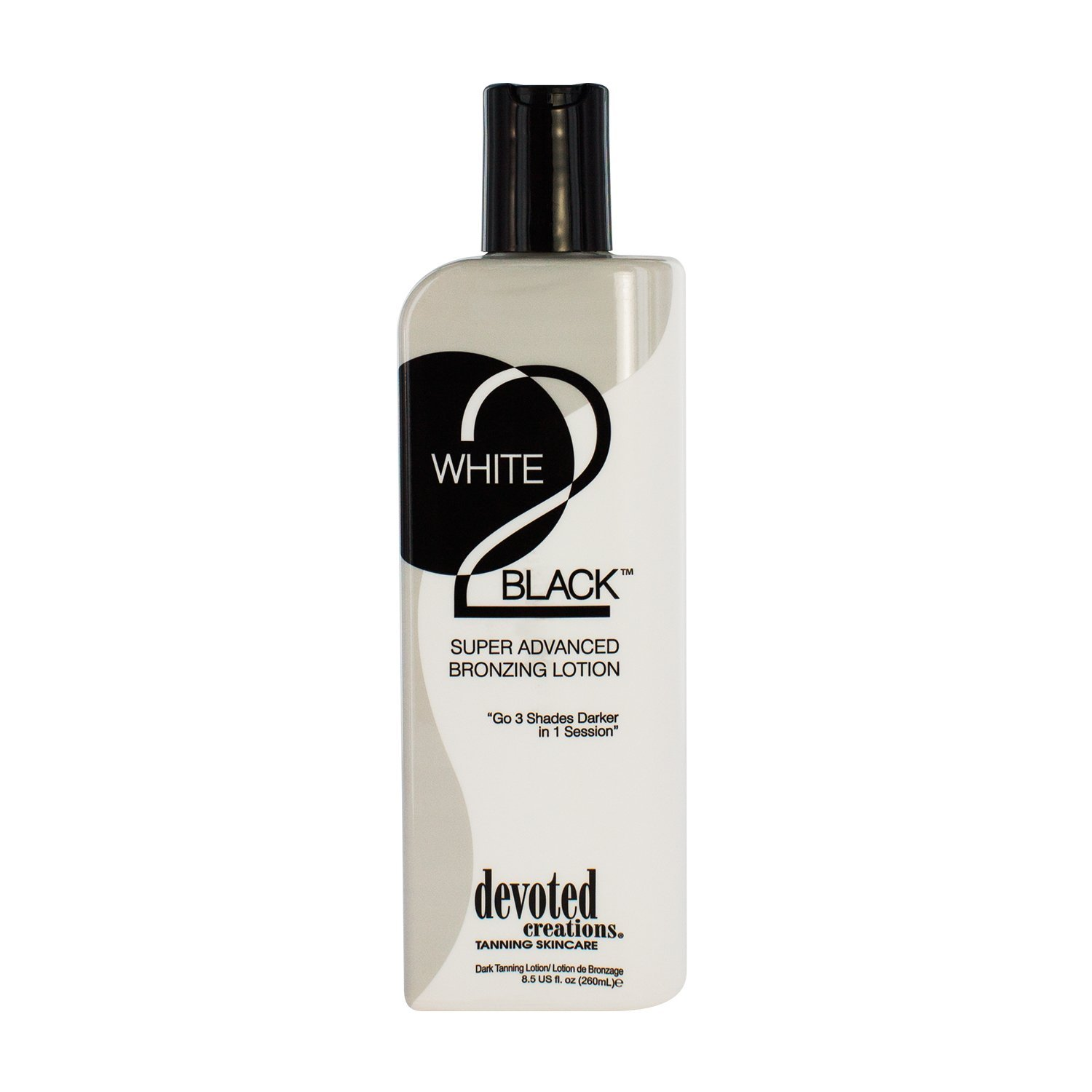 Devoted Creations White 2 Black Supre Advanced Bronzer Tanning Lotion, 8.5 Ounce DCWTB8