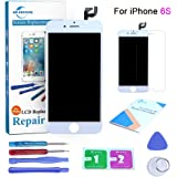 Qi-Eu LCD Display for iPhone 6S 4.7 inch Touch Screen Digitizer Replacement with 3D Touch Full Assembly - White, Repair Tools Kit and Instructions are Included