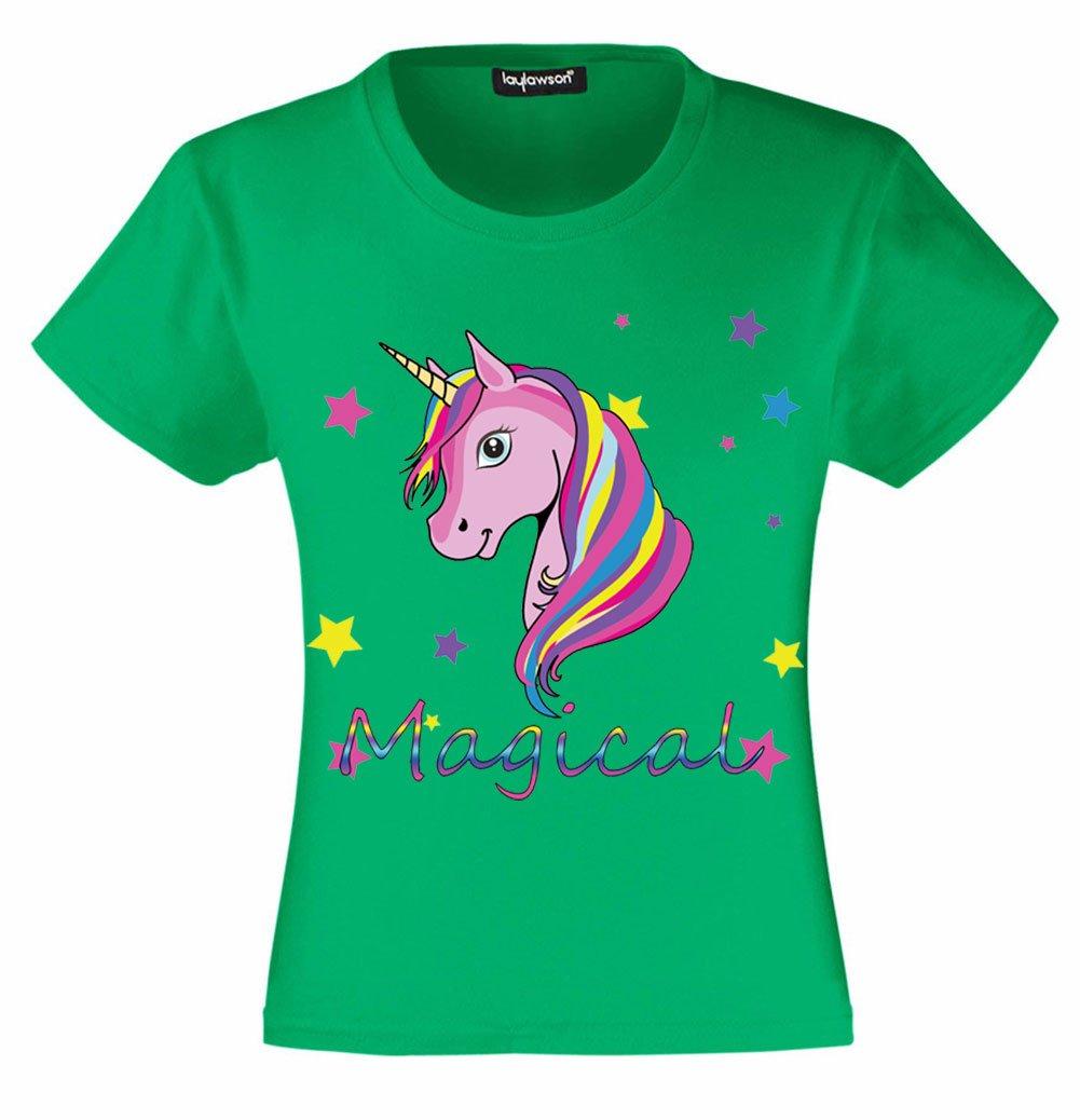 Unicorn T-Shirt Girls Kids Novelty Tshirt Tee Top Unicorn Clothing Ages 3 to 15 Years