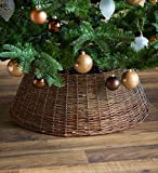 Plow & Hearth Small Willow Christmas Tree Ring Collar, 22½'' Dia.