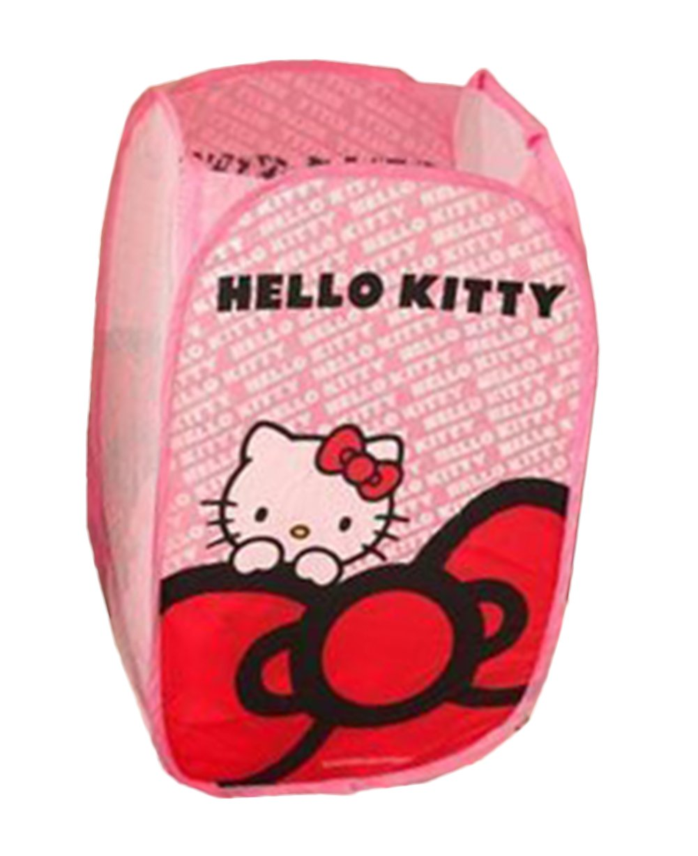 EKEA-Home Cartoon Cute Animal Hello Kitty Foldable Laundry Basket Barrels Underwear Children Toys Clutter Storage Basket Pink