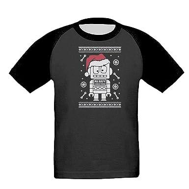 Amazoncom Boys Robot Santa Ugly Christmas Sweater Child Black