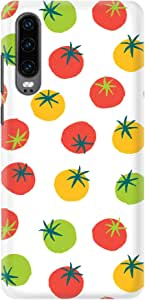 Stylizedd Huawei P30, Slim Snap Basic Case Cover Matte Finish - Different Tomatoes