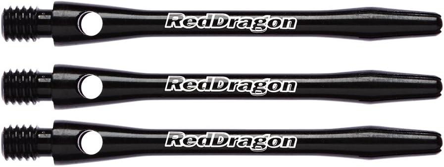 4 Sets pro Packung Red Dragon Laser Etched Aluminium Mittlere Sch/äfte 12 Sch/äfte in total