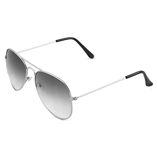 Royal Son UV Protected Aviator Unisex Sunglasses (WHAT0635 | 58 | Black Lens) Sunglasses at amazon