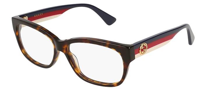 6b7ed98f02358 Gucci - Monture de lunettes - Femme Avana femme  Amazon.fr ...