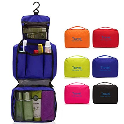 9e4546870a SunKni Portable Toiletry Bag Wash Bag Bathroom Hanging Bag Travel Bag  Zipper Storage Bag Drawer Dividers
