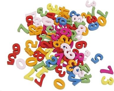 Holzzahlen Buchstaben-Alphabet Bastelzahlen #1 one Size 100x Holzbuchstaben