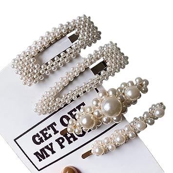 Metal Hair Accessories Hairgrip Women Pearl Hairpins Rhinestone  Hair Clips