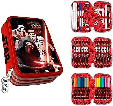 Star Wars Plumier - Estuche 3 Cremalleras, Multicolor, 25 cm: Amazon.es: Equipaje