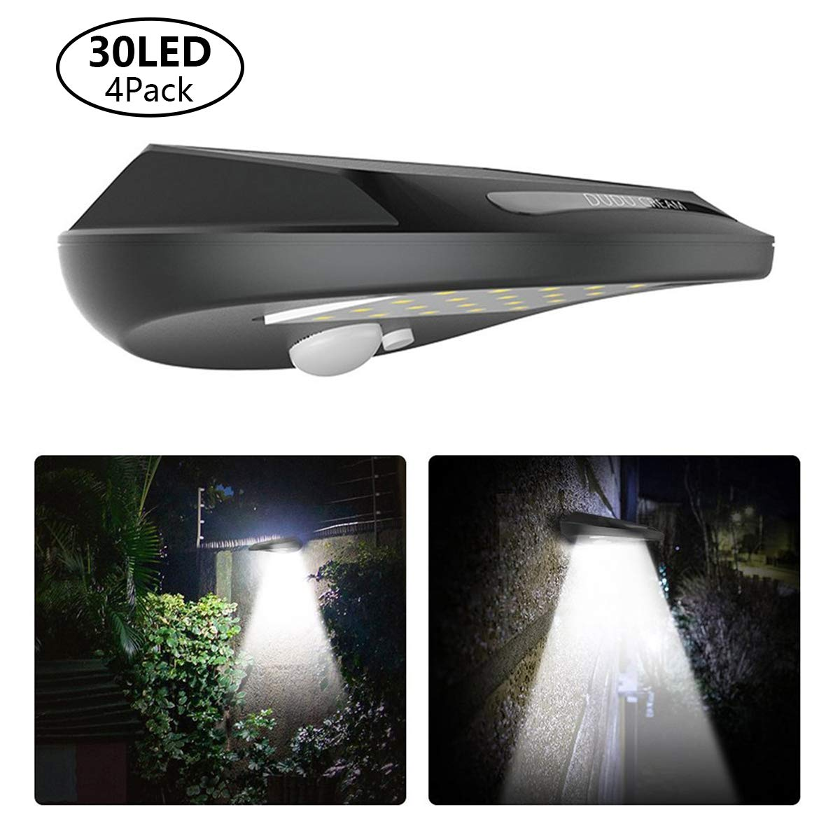 Waterproof 6 LED Solar Power PIR Motion Sensor Wall Light Outdoor LED Lamp 1SET