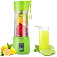 EASELIFE ABS Plastic USB Rechargeable Juice Blender and Mixer, 380 ml (Colour May Vary, Standard Size)