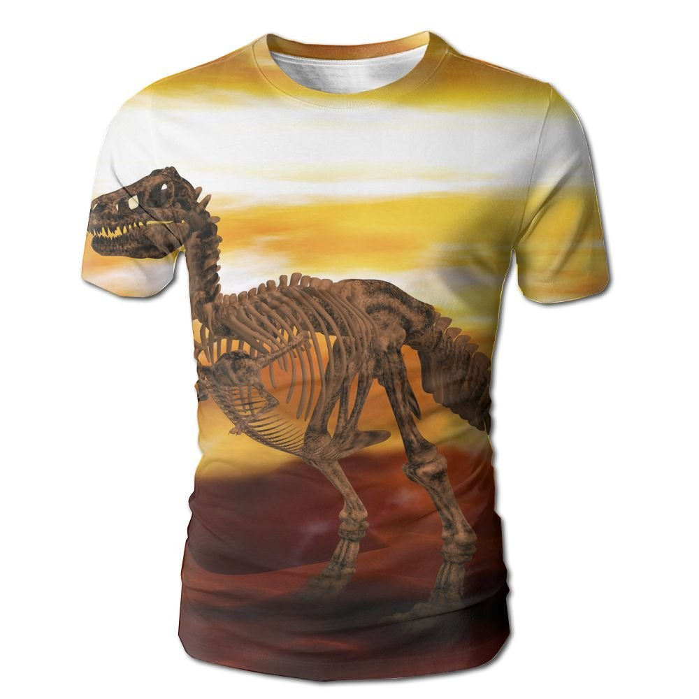 XIA WUEY Dinosaur Skull Men'sCrew Neck Baseball Tshirt Graphic Tees Tops For Home