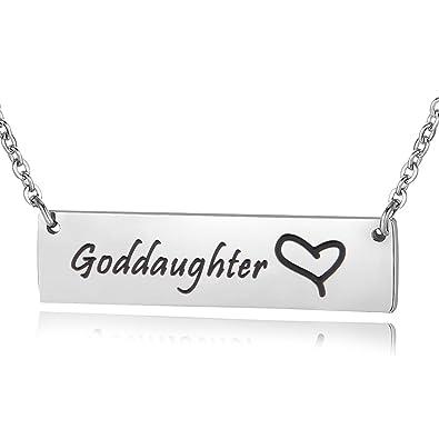 Amazon ensianth godmother necklace goddaughter necklace hand ensianth godmother necklace goddaughter necklace hand stamped bar necklace gift for her goddaughter aloadofball Gallery
