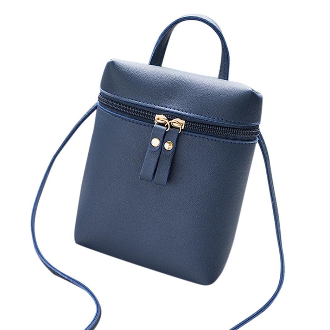 Pocciol HOT Women Versatile Convenient Crossbody Bag Messenger Fashion Handbag Shoulder Bag (Blue)
