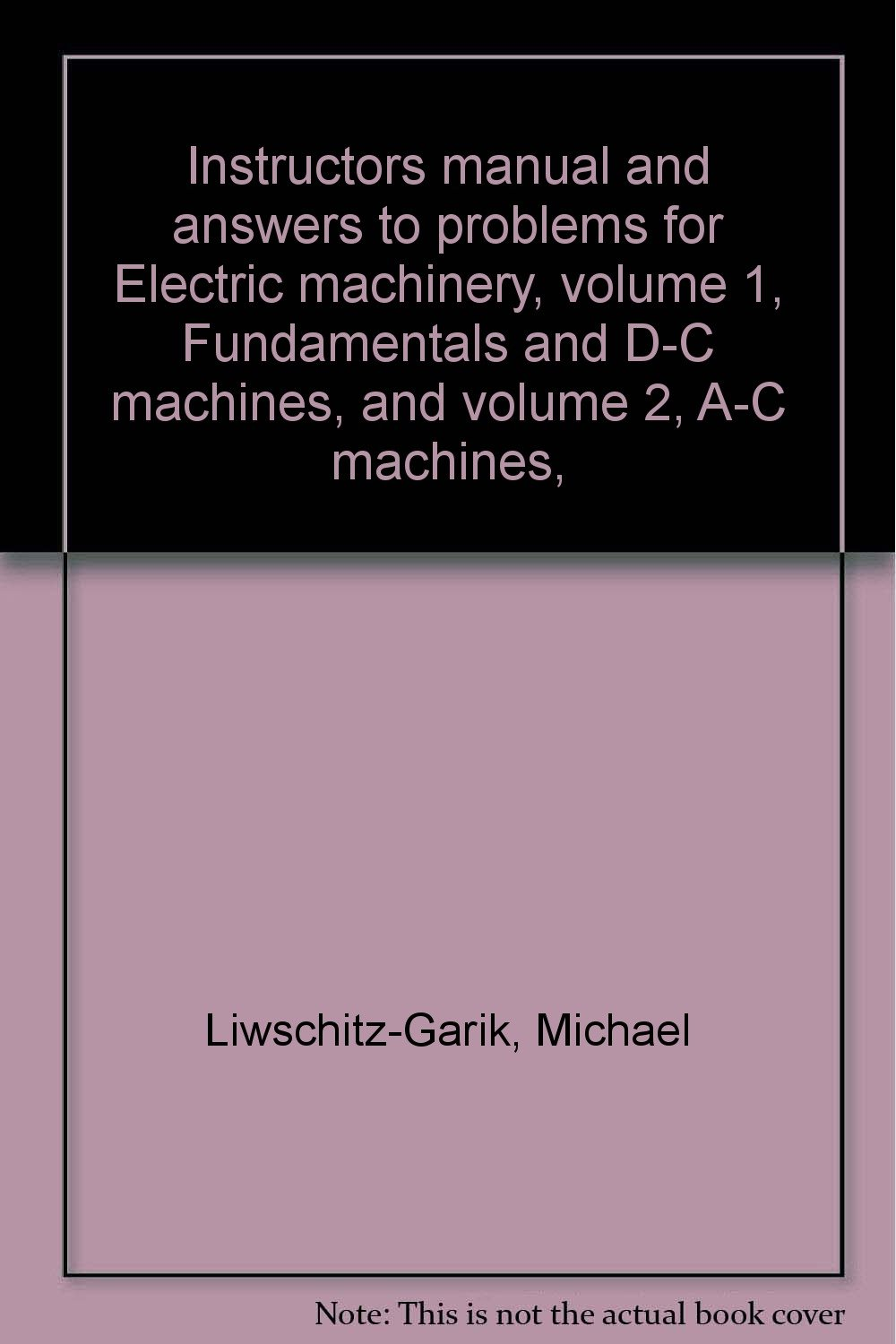 Instructor Manual For Fundamentals Of Electrical