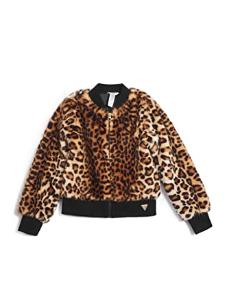 592b02adf028 Amazon.com: GUESS Factory Kids Girl's Janice Leopard Bomber Jacket (7-16):  Clothing