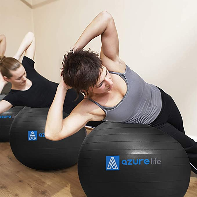 Amazon.com: AZURE LIFE Professional Grade Exercise Ball ...