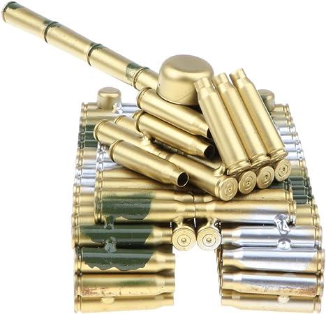 Retro Metalwork Bullet Shell Artillery Tank Model Metal Art Collection Toy