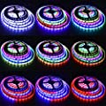 16ft WS2811 RGB Magic Color Deam Multicolors 5050 LED Flexible Strip Light White FPCB
