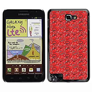 ZECASE Funda Carcasa Tapa Case Cover Para Samsung Galaxy Note I9220 No.0002156