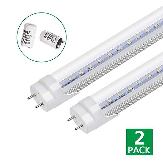 led tube light 4ft 2 pack 20w 16000lumen fluorescent tube rh amazon co uk