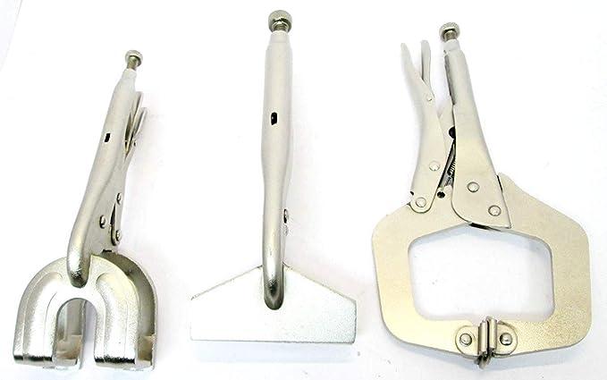 3-teiliges Schwei/ßen Klemmen Zange Set C Klemme Maulwurf Gripzange Tabelle Metall