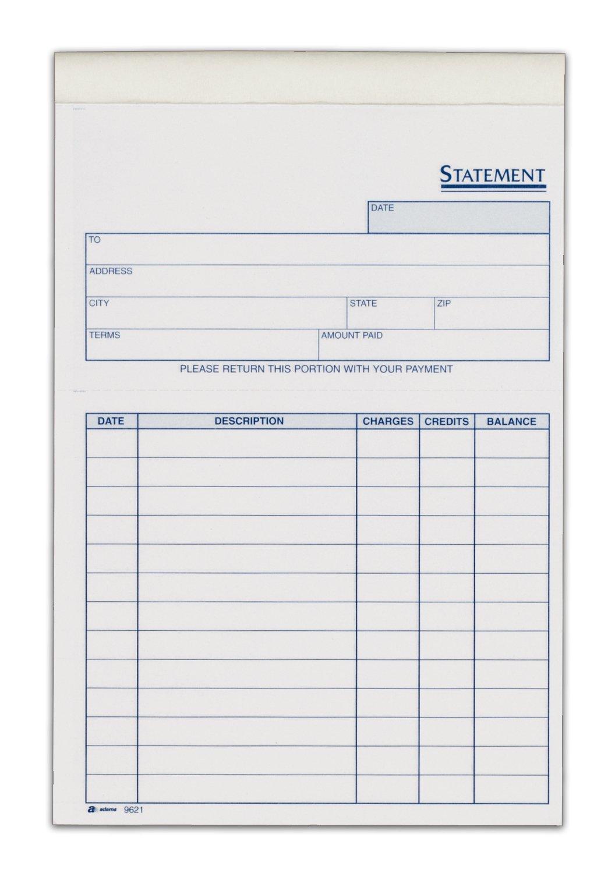 Adams Statement Single Sheets 5.63 X 8.44 100 Sheets White (9621Abf) 2
