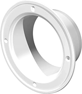 Duct Connector Flange, Plastic Straight Pipe Flange for Heating Cooling Ventilation System (6'' Inch)