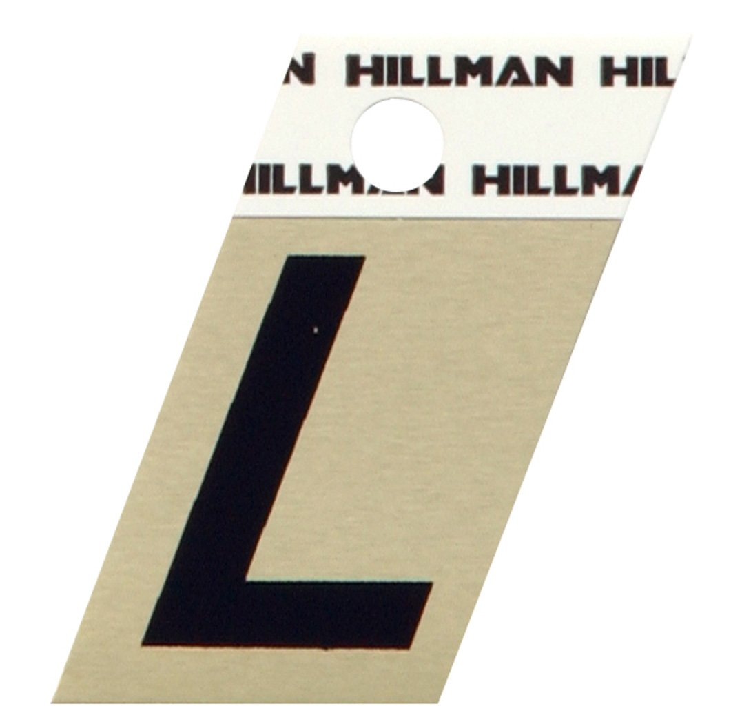 The Hillman Group 840516 1-1/2-Inch Aluminum Angle-Cut Letter L by The Hillman Group