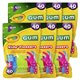 GUM Crayola Kids' Flosser (40 Flossers, Pack of 6) Grape 10070942303108
