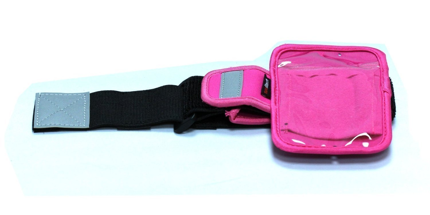 Navitech Pink MP3/MP4 Sports Running Armband For the Apple iPod shuffle