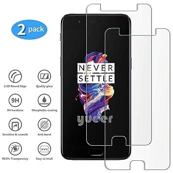 yueer OnePlus 5/A5000 Protector de Pantalla,[ 9H Dureza ][Alta ...