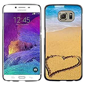 LECELL -- Funda protectora / Cubierta / Piel For Samsung Galaxy S6 SM-G920 -- Beach Heart --