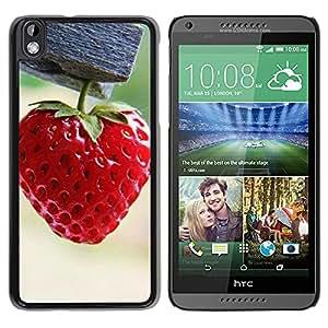 Paccase / SLIM PC / Aliminium Casa Carcasa Funda Case Cover - Strawberry - HTC DESIRE 816