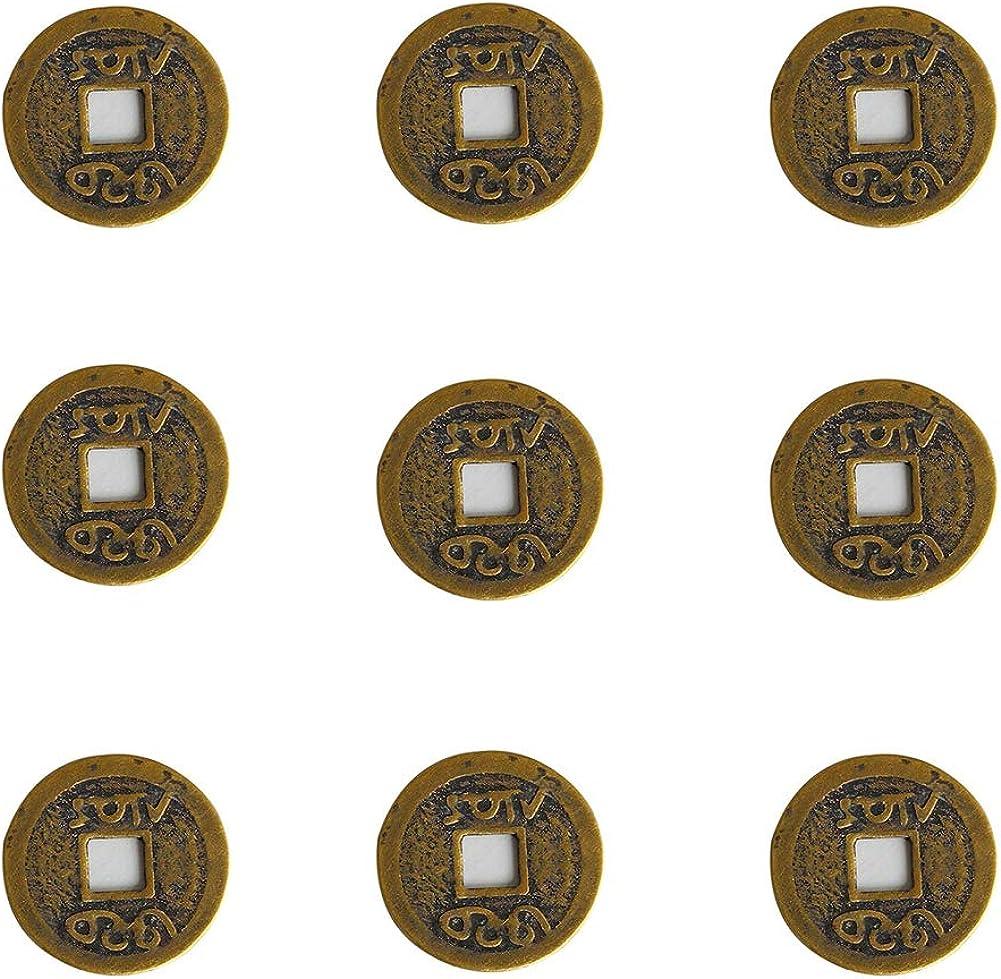 NaiCasy Fortuna China Chino Monedas Monedas de la Buena Suerte Antigua dinastía China Tiempo Moneda 10Pcs