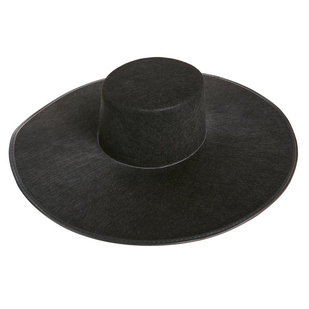 Amazon.com  Formation Wide Brim Black Costume Hat  Clothing 1872bafa5f2