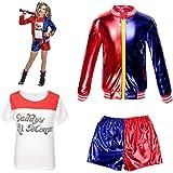 thematys® Camiseta Harley Quinn + Chaqueta + Pantalones + ...
