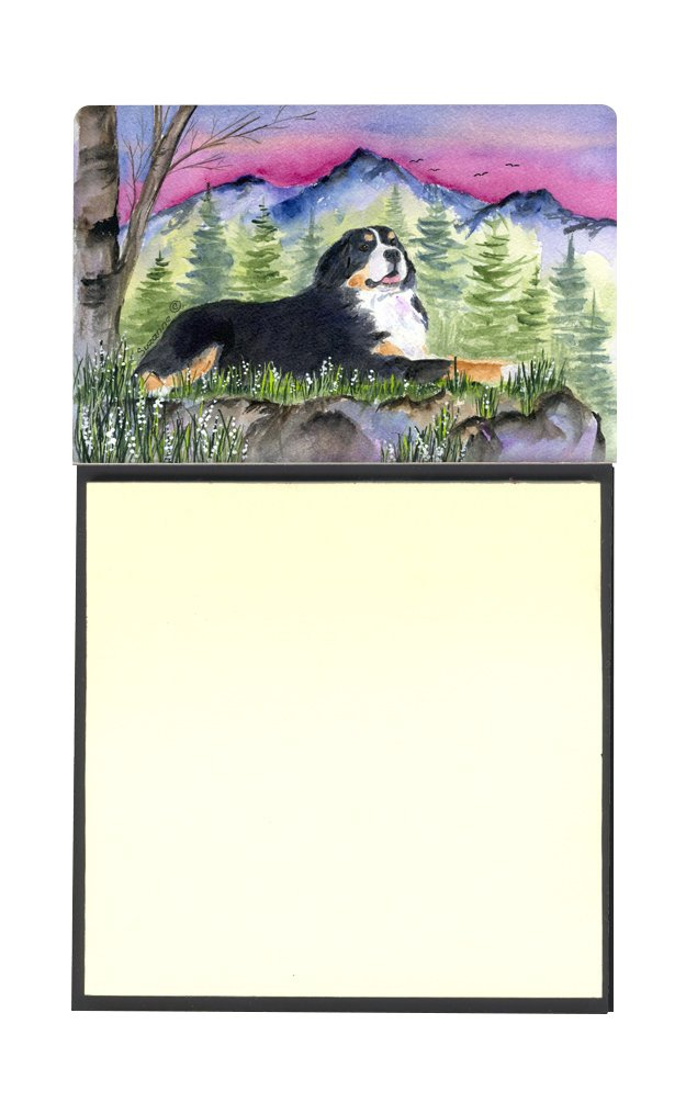 Caroline's Treasures SS8332SN Bernese Mountain Dog Refillable Sticky Note Holder or Postit Note Dispenser, 3.25 by 5.5'', Multicolor by Caroline's Treasures