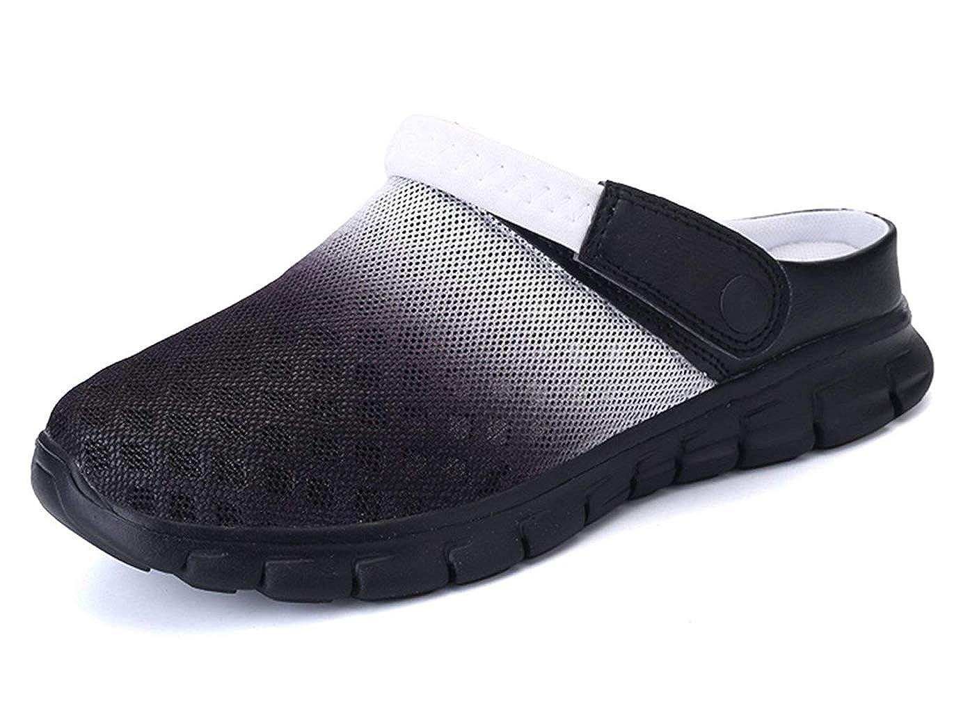 c2bc185d6e0 Femmes Hommes Sabots Mules Respirant Chaussures de Jardin Perforés-Sabot de  Plage Sport Pantoufles Piscine Sandales DÉté Chaussures
