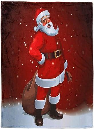 Père Noël Tree Bonhomme De Neige Stag Super Doux Lit Canapé Couverture Polaire jette
