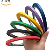 Colored Masking Tape 5mm Width Graphic Chart Tapes Whiteboard Gridding Tape for Creative Art Projects Artist Marking Crafts Decorations (multicolor)