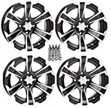 ITP SS312 ATV Wheels/Rims Black 12'' Honda Foreman Rancher SRA Solid Axle (4)