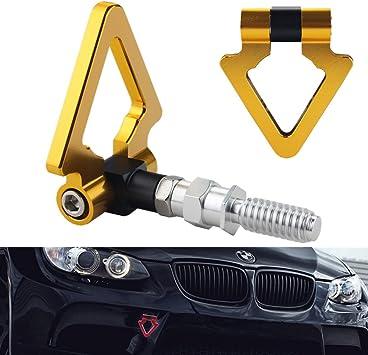 Triangle Tow Hook Towing Hook Ring For BMW E82 E88 E90 E91 E92 E93 E70 X5 RED
