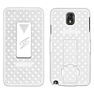 AMZER Shellster Carrying Case (Holster) for Smartphone - White / AMZ96227 /