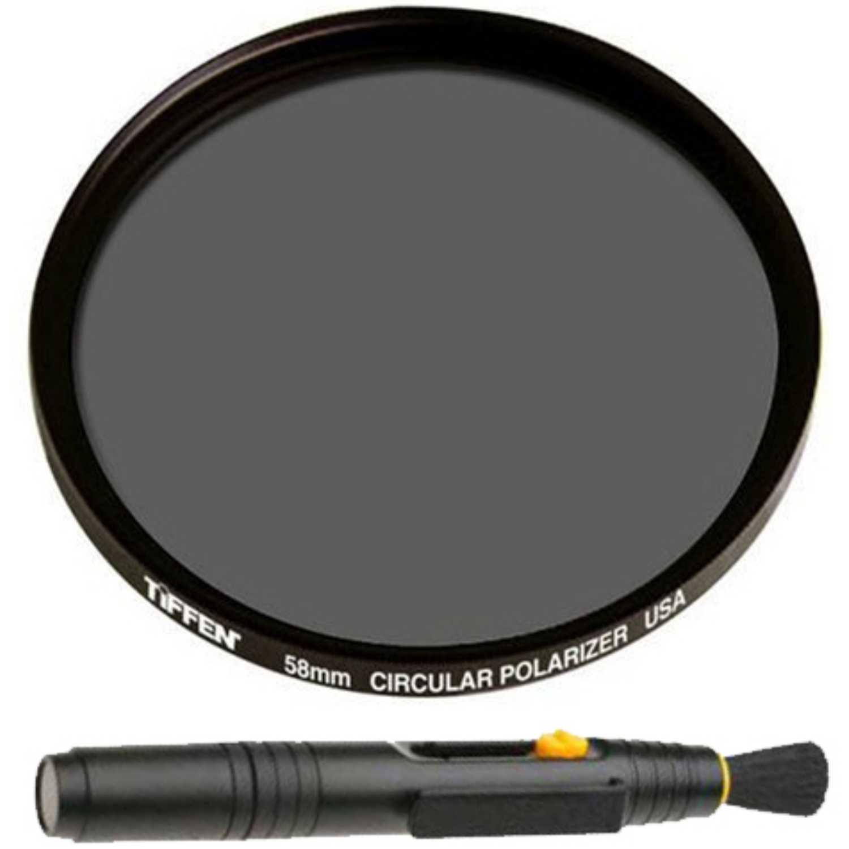 Tiffen Circular Polarizing Filter and Lens Pen Kit (58mm) by Tiffen