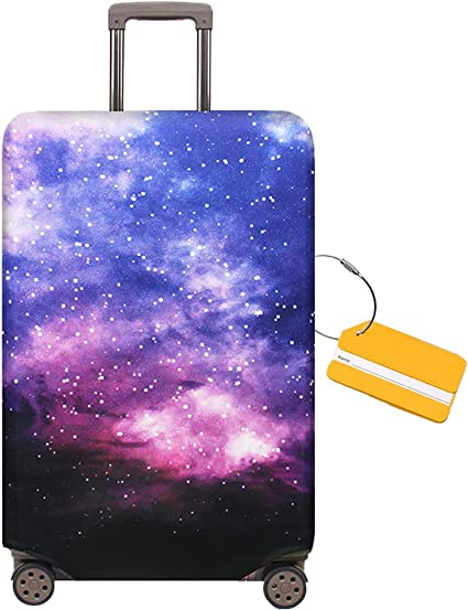 for 29-32 inch luggage Maysh Travel Luggage Cover Protector Baggage Suitcase Cover Protector Fits 18 to 32 Inch Luggage Building, XL