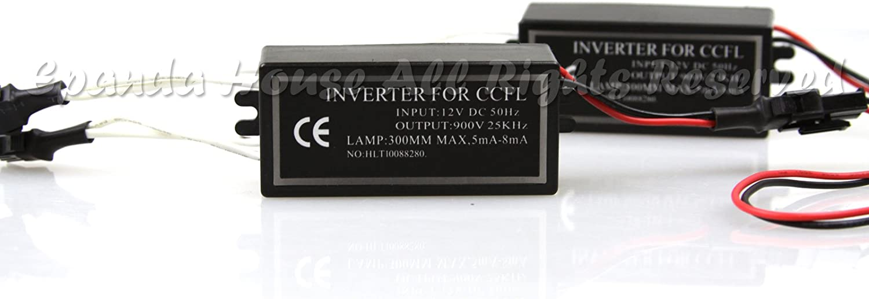 2pc Ccfl Halo Ring Angel Eye Lights Inverter Ballast 12v Input Auto
