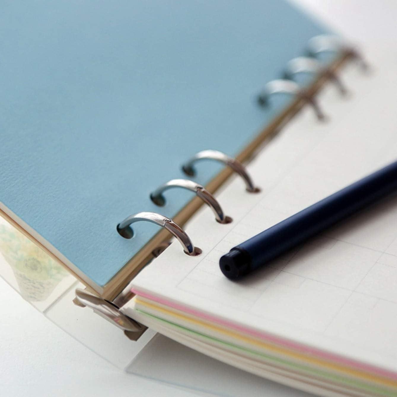 A6 Saiifu Au/ßergew/öhnliches A5 A6 A7 Spiral Notebook Abdeckung Lose Tagebuch Spule Ringhefter F/üller Papier Separate Planer Erhalten Tasche Karte Aufbewahrung