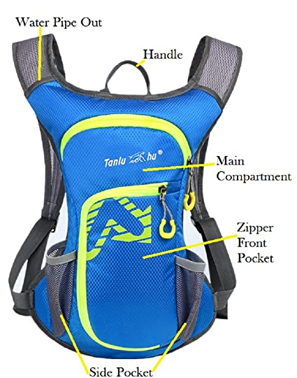 Amazon.com : TANLUHU Cycling Backpack, Bike Shoulder Bag Lightweight Outdoor Sports Riding Backpack Hydration Compatible for Hiking Running Cycling : Sports ...
